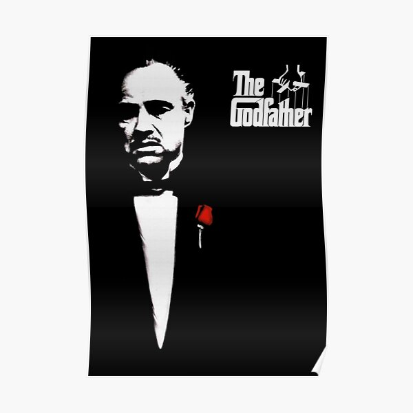 The Godfather Artwork, Posters, Prints, Tshirts, 1972 Movie For Men, Women, Kids Poster