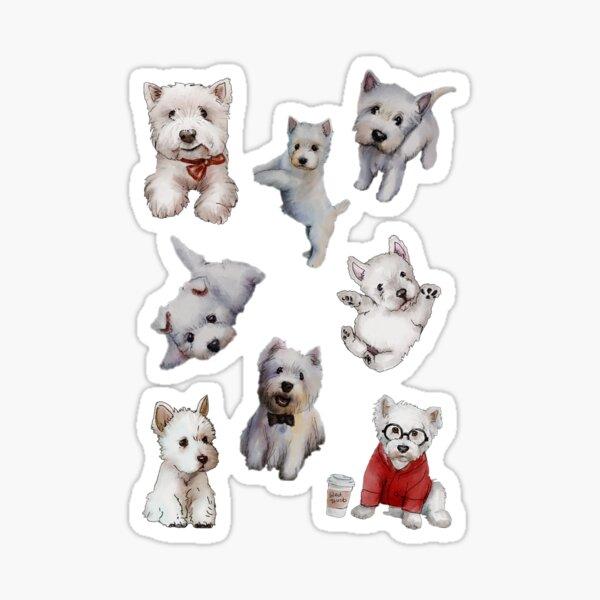 Westies Dogs Sticker Set Extended Sticker