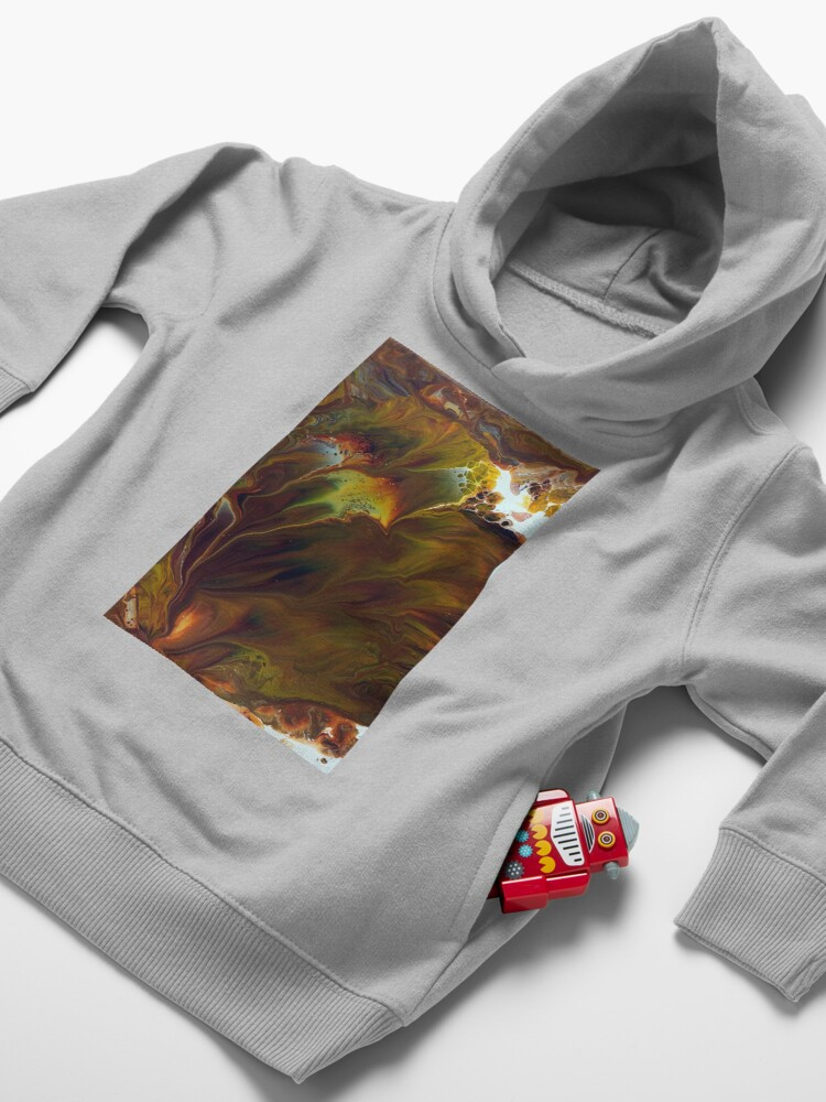 Alternate view of Pyroclastic Flow Toddler Pullover Hoodie