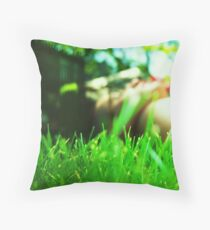 resting my weary weight  Throw Pillow