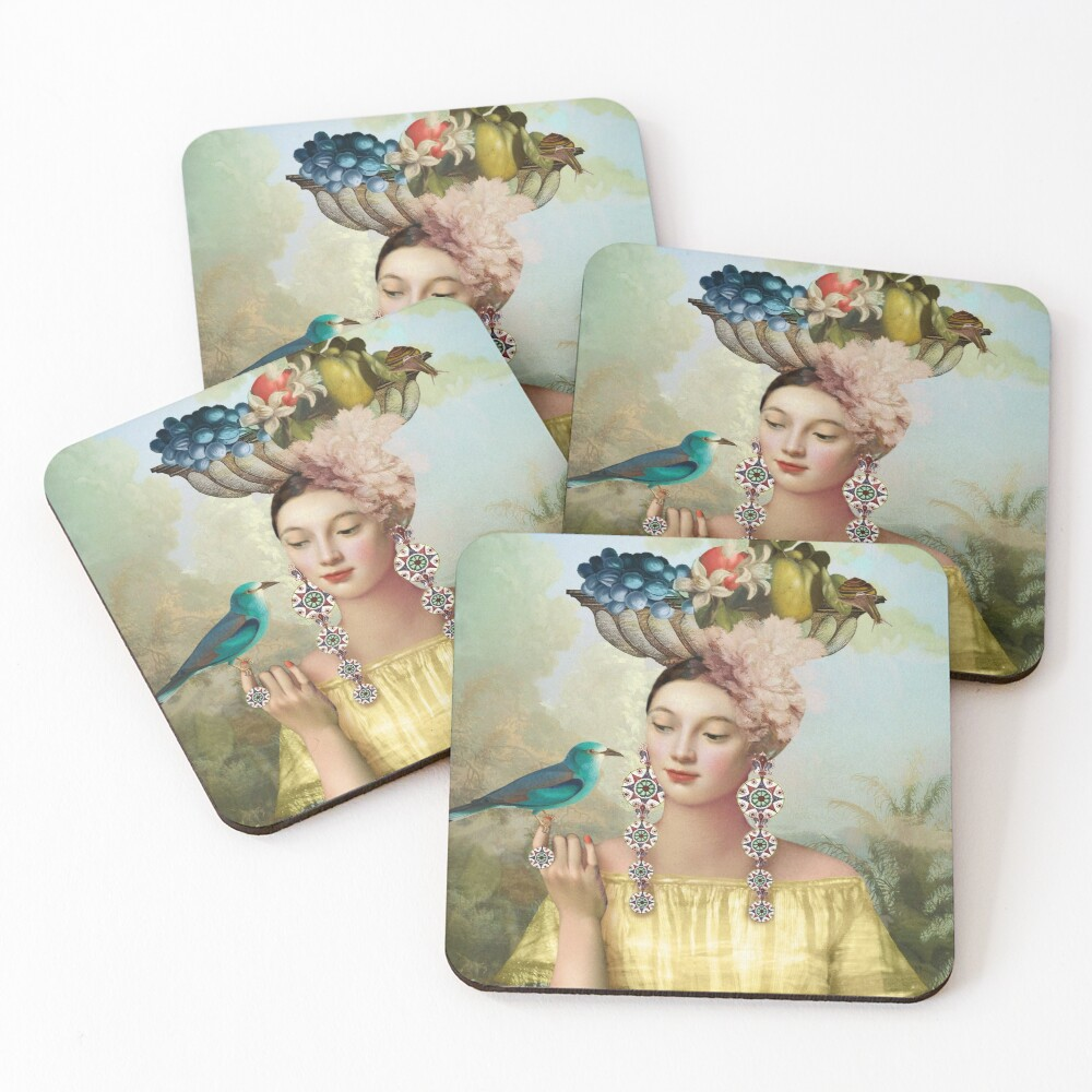 Nine of Pentacles Coasters (Set of 4)