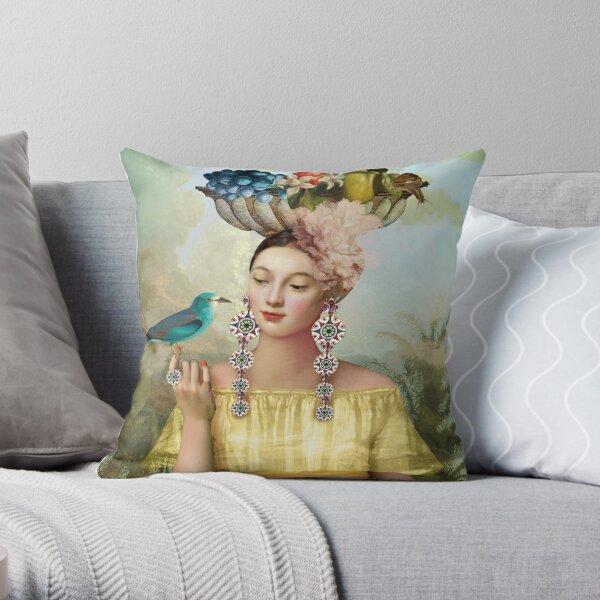Nine of Pentacles Throw Pillow