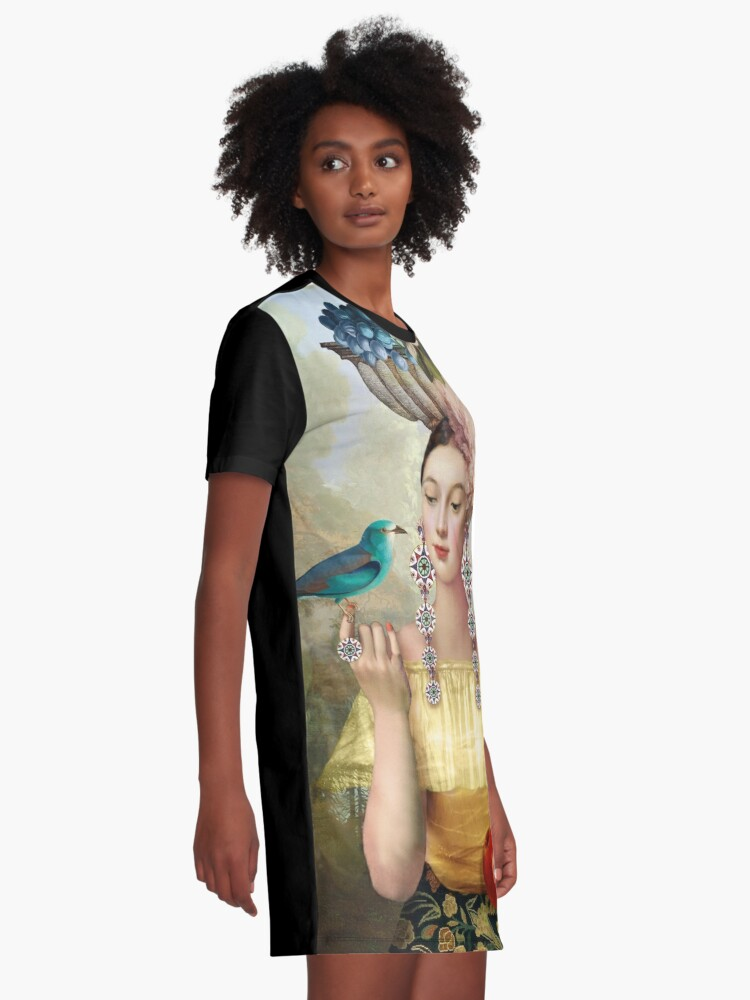 Alternate view of Nine of Pentacles Graphic T-Shirt Dress