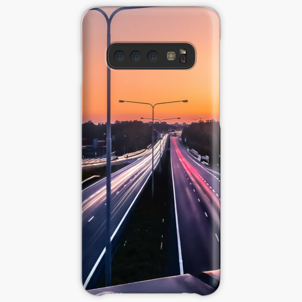 Light trail and sunset Samsung Galaxy Snap Case