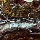 Strata: fluid acrylic pour painting, digital art by kerravonsen