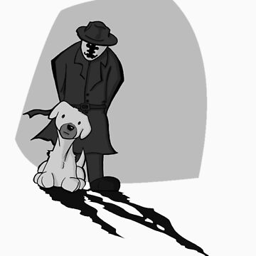Rorschach and dog by justinbysma