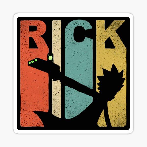 Style vintage des années 90 et 80 de Rick Sanchez Sticker