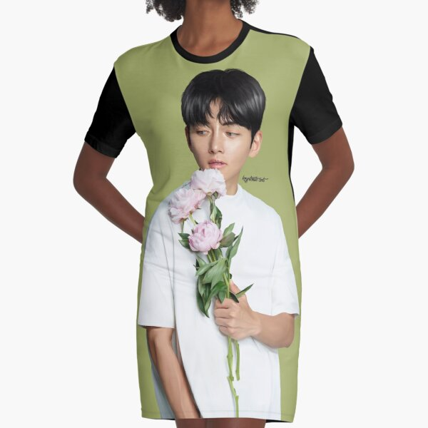 Floral Ji Chang Wook Graphic T-Shirt Dress