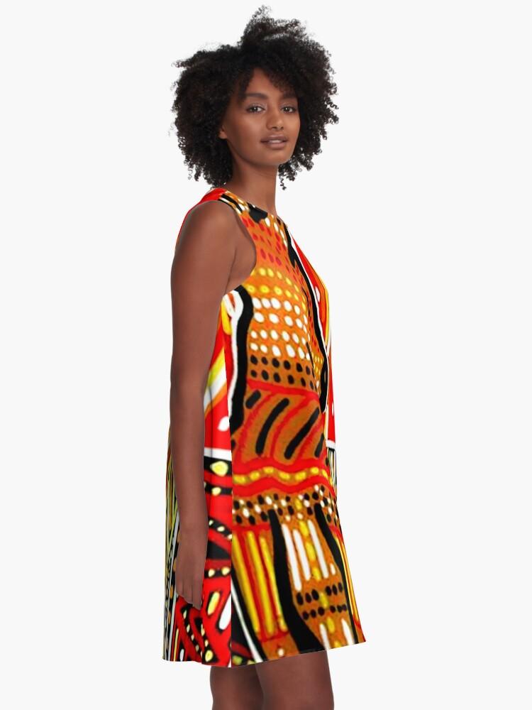 Alternative Ansicht von Kultur der Ureinwohner A-Linien Kleid