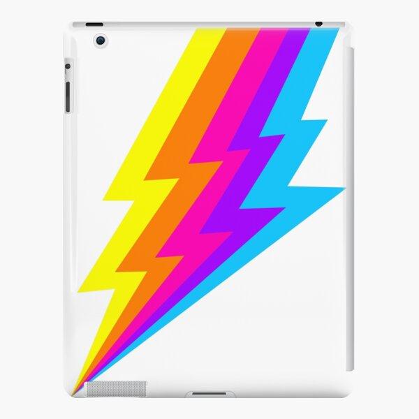 Neon Rainbow lightning bolt iPad Snap Case