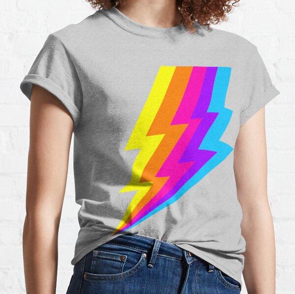 Neon Rainbow lightning bolt Classic T-Shirt