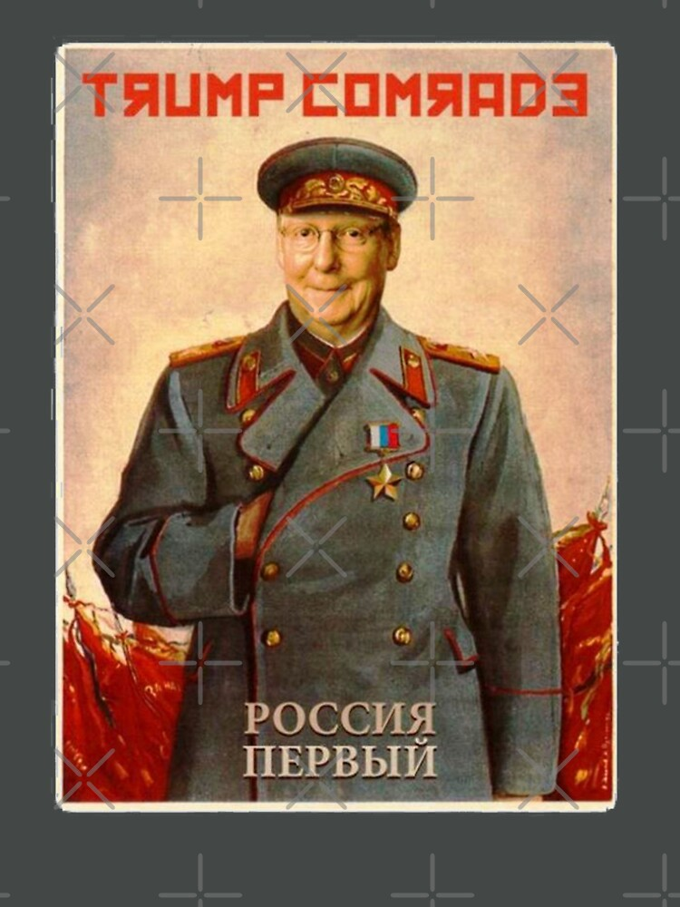 Moscow Mitch McConnell Russian Asset Poster Stalin-esque by poland-ball