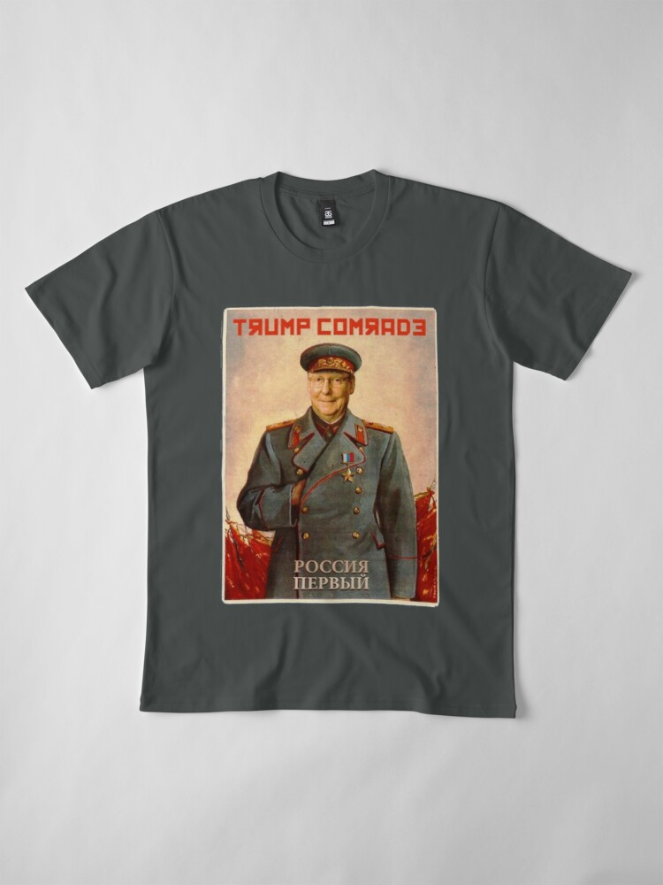 Alternate view of Moscow Mitch McConnell Russian Asset Poster Stalin-esque Premium T-Shirt