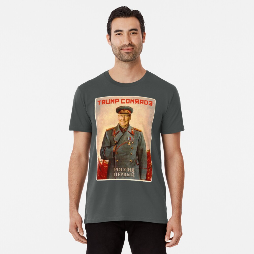 Moscow Mitch McConnell Russian Asset Poster Stalin-esque Premium T-Shirt