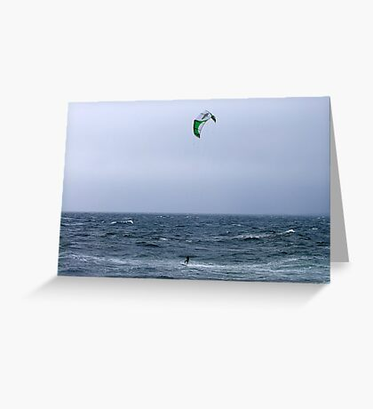 A Breezy Day Greeting Card