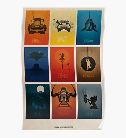 Spielberg Movies Poster