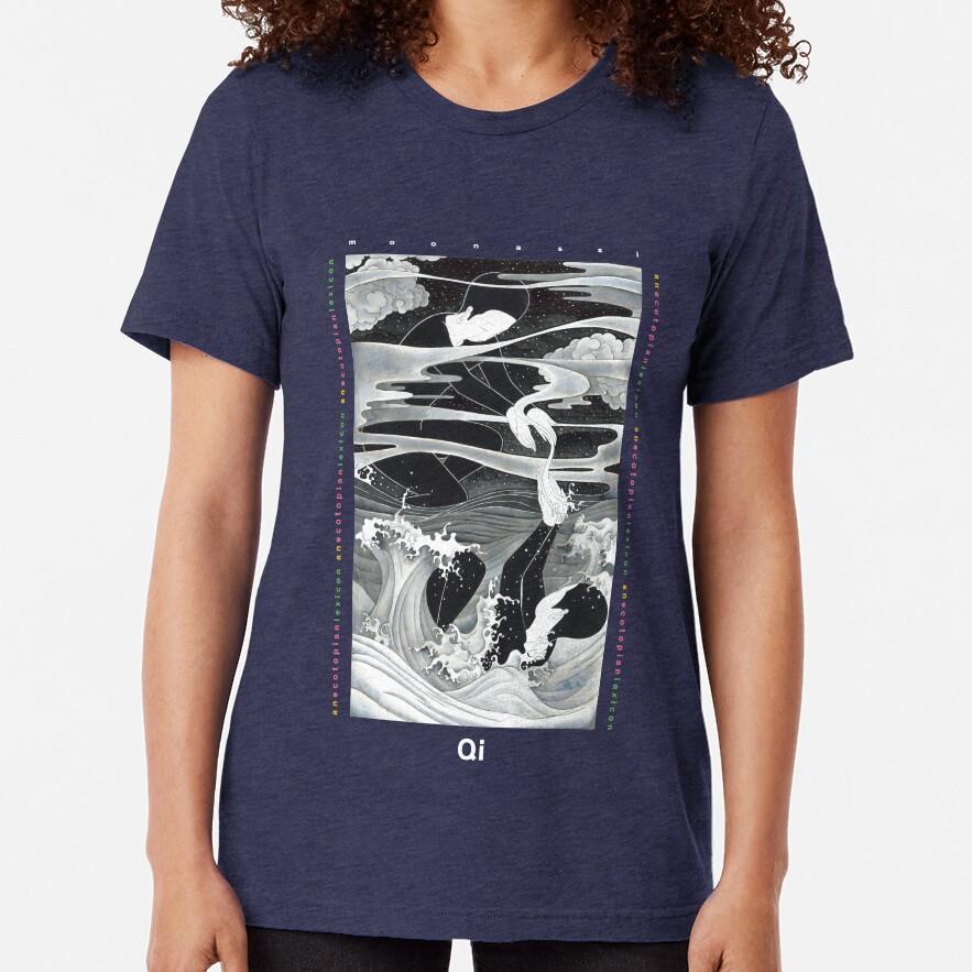 Qi by Moonassi (White Font) Tri-blend T-Shirt