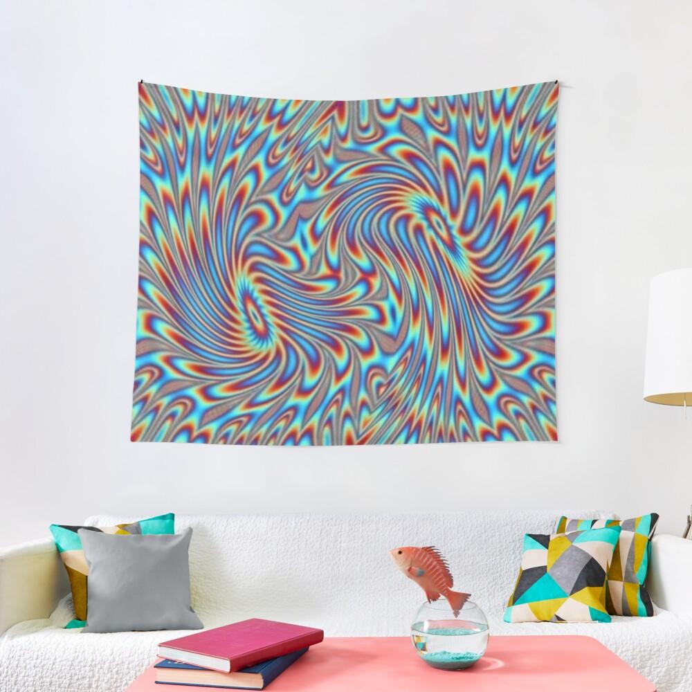 #OpArt, #visual #illusion, #VisualArt, opticalart, opticalillusion, opticalillusionart, opticalartillusion, psyhodelic, psichodelic, psyhodelicart Tapestry