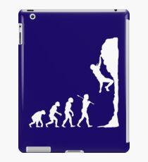 Rock climbing evolution geek funny nerd iPad Case/Skin