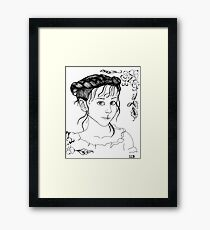 RedBubble Portrait of Gracie Framed Print