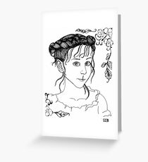 RedBubble Portrait of Gracie Greeting Card