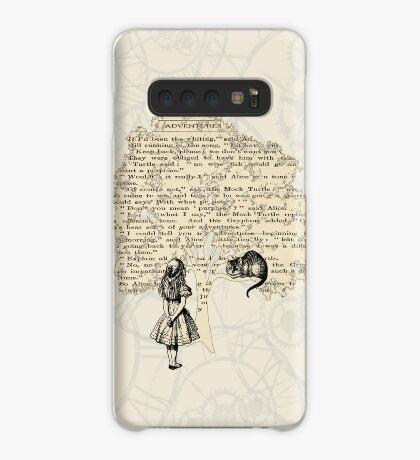 Libro de Alicia en el País de las Maravillas Funda/vinilo para Samsung Galaxy
