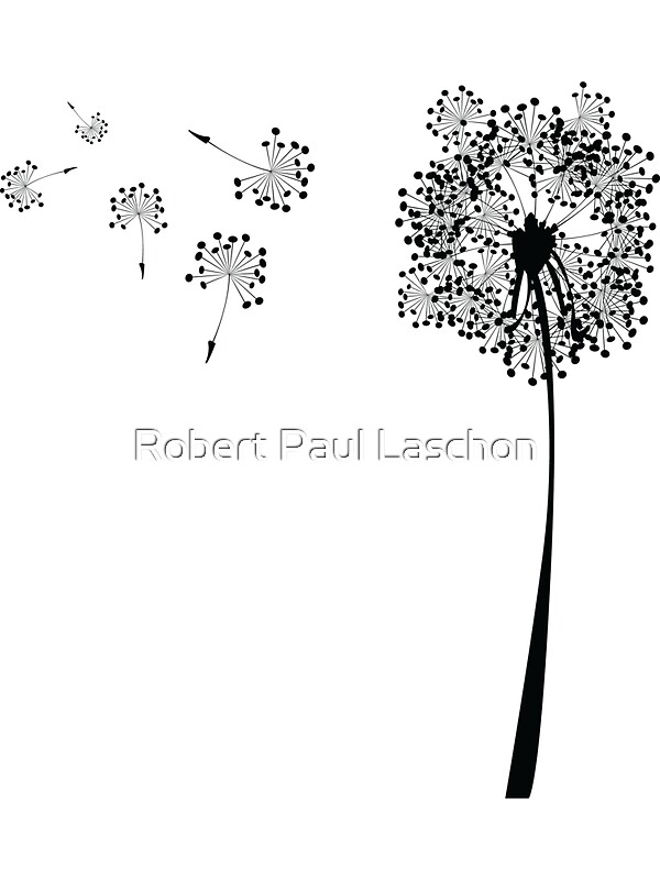 Dandelion Design Stickers By Laschon Robert Paul Redbubble