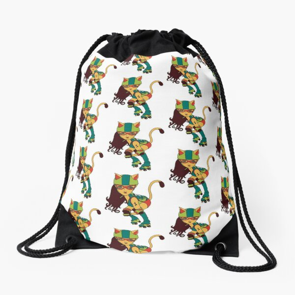 Purrrfect Blocker Drawstring Bag