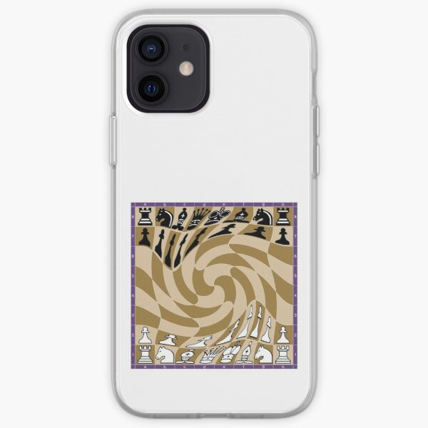 Chess, #Chess, Chess #Board, Chess Pieces, illustration, #ChessBoard, #ChessPieces iPhone Soft Case