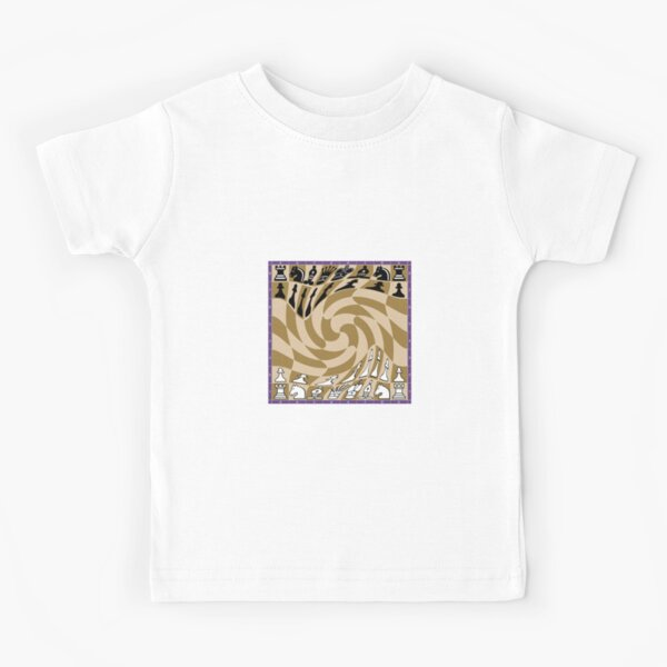 #Chess, Chess #Board, Chess Pieces, illustration, #ChessBoard, #ChessPieces  Kids T-Shirt