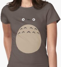 My Neighbor Totoro - Face and Chest Womens Fitted T-Shirt