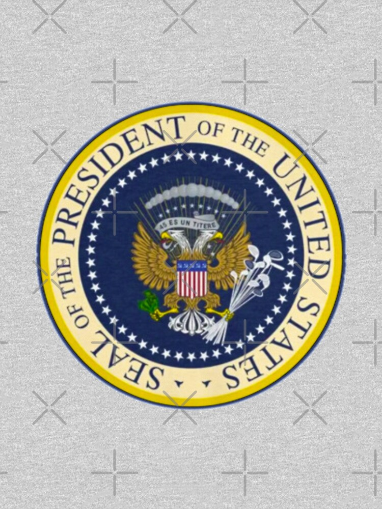 Fake Presidential Seal Tee With Golf Clubs, 45 Es Un Titre, and Russian Eagle.  by poland-ball