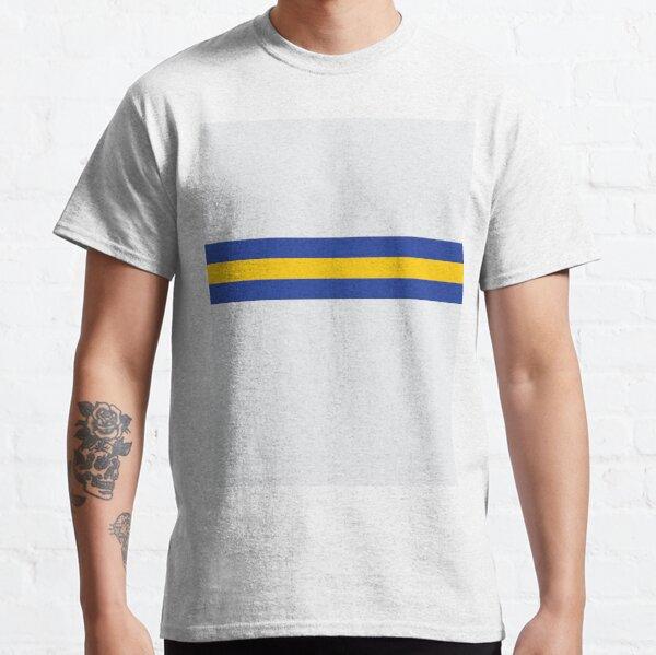 Leeds White Blue & Yellow Colours Bar Design Classic T-Shirt