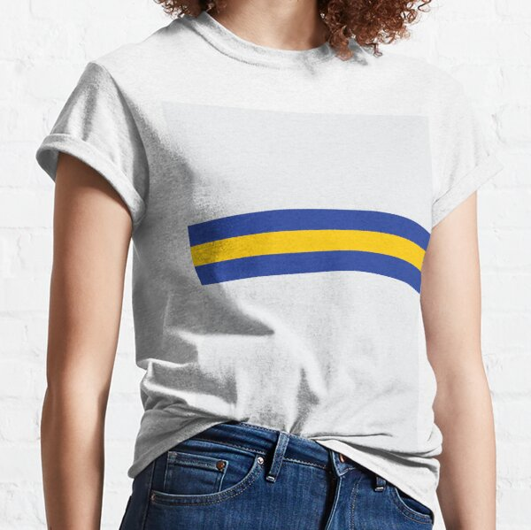 Leeds White Blue & Yellow Colours Bar Design Classic T-Shirt