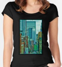 View from an office Women's Fitted Scoop T-Shirt