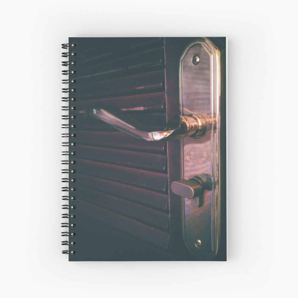 Door knob and door plate detail Spiral Notebook