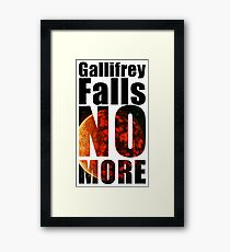 Gallifrey - No More - Simple Typography Collection Framed Print
