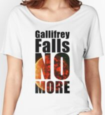Gallifrey - No More - Simple Typography Collection Women's Relaxed Fit T-Shirt