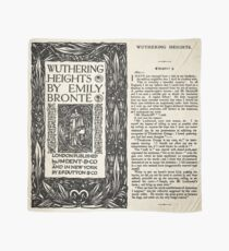 Wuthering Heights Pages Black - London Published Edition Scarf