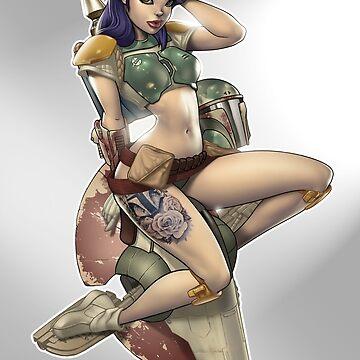 Bounty Huntress Print by dominicmarco
