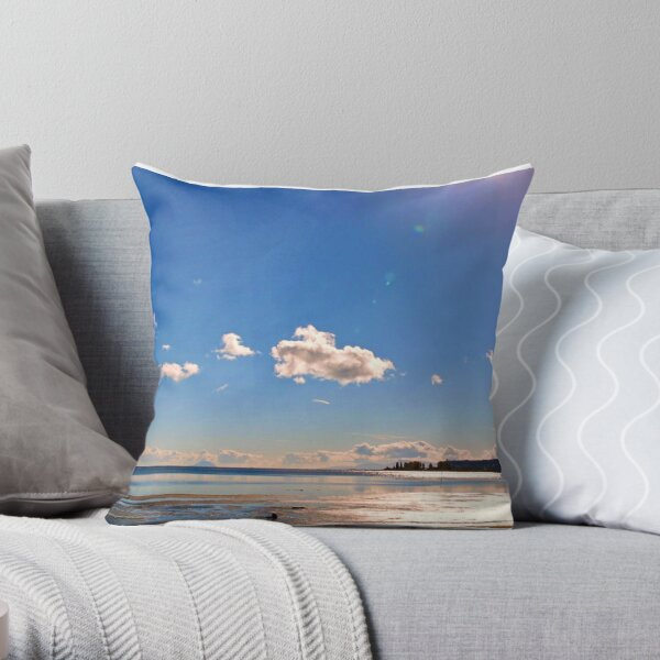 Boundary Bay, BC, Canada Throw Pillow