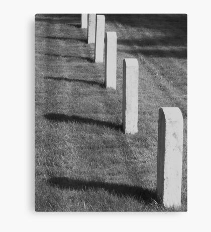 Fort Worden memorial cemetery Canvas Print