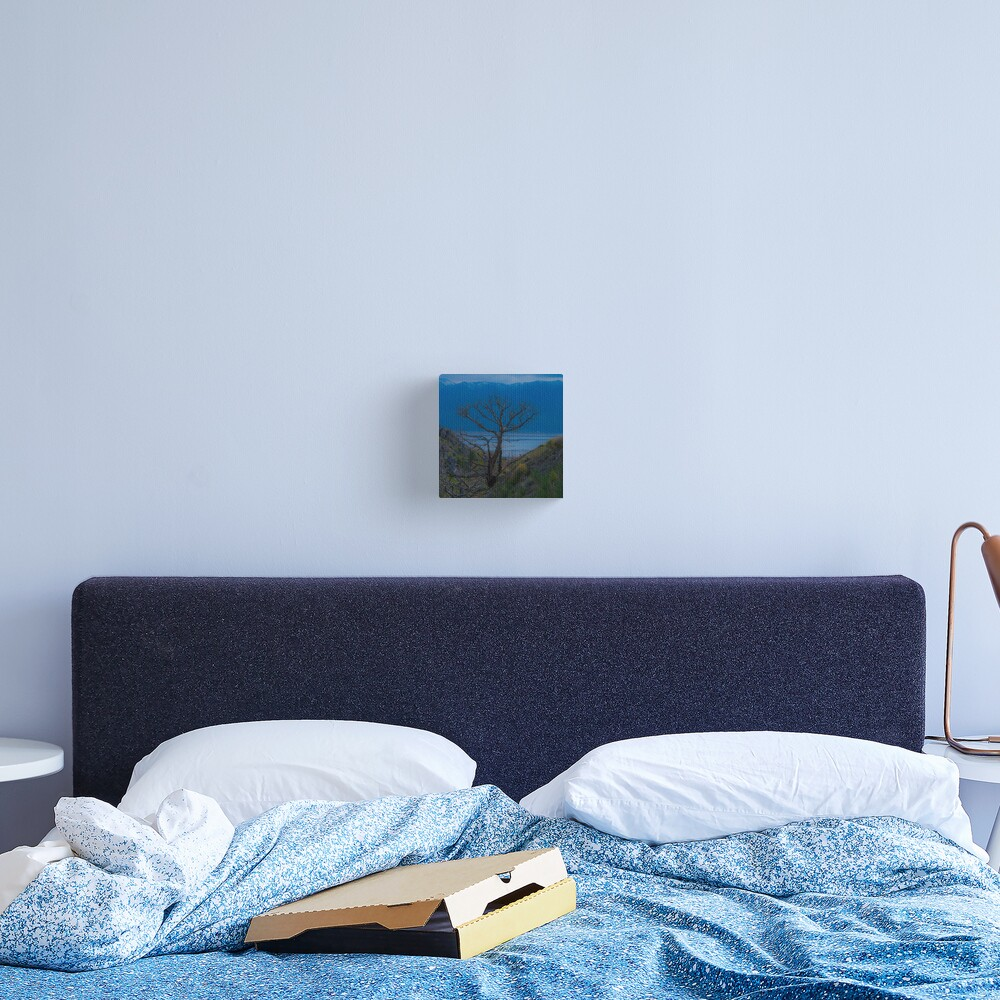 Lonely on Blue Canvas Print