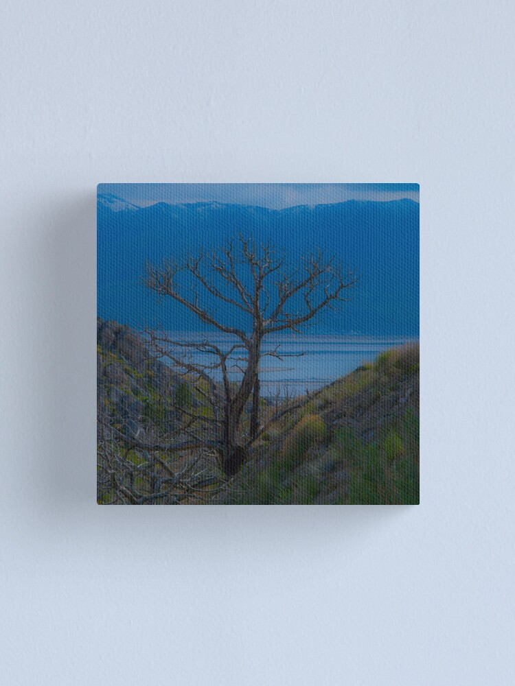 Alternate view of Lonely on Blue Canvas Print