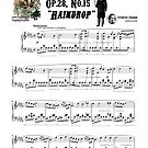 """Chopin Prelude """"Raindrop"""" Op.28 No.15 Sheet Music by AnimalComposers"""
