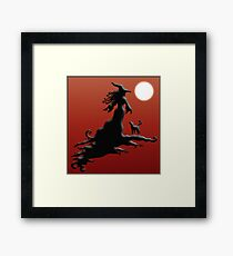 Witch's Silhouette - Prints and Cards Framed Art Print