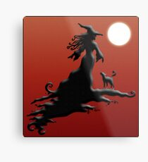 Witch's Silhouette - Prints and Cards Metal Print