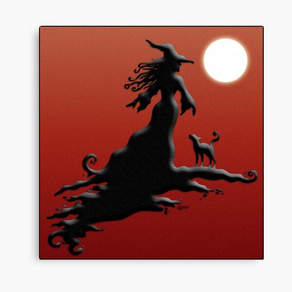 Witch's Silhouette - Prints and Cards Canvas Print