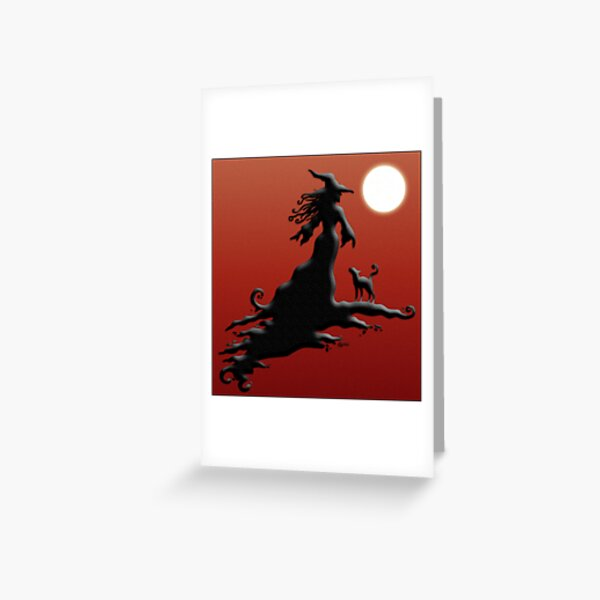 Witch's Silhouette - Prints and Cards Greeting Card