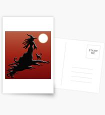 Witch's Silhouette - Prints and Cards Postcards